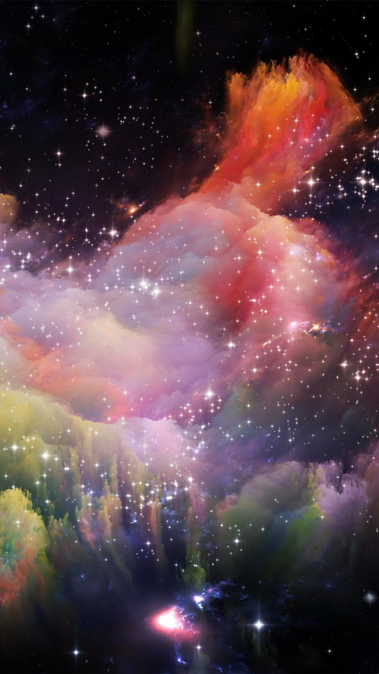 I love papers as35 space rainbow colorful star art - Iphone 6 space wallpaper download ...