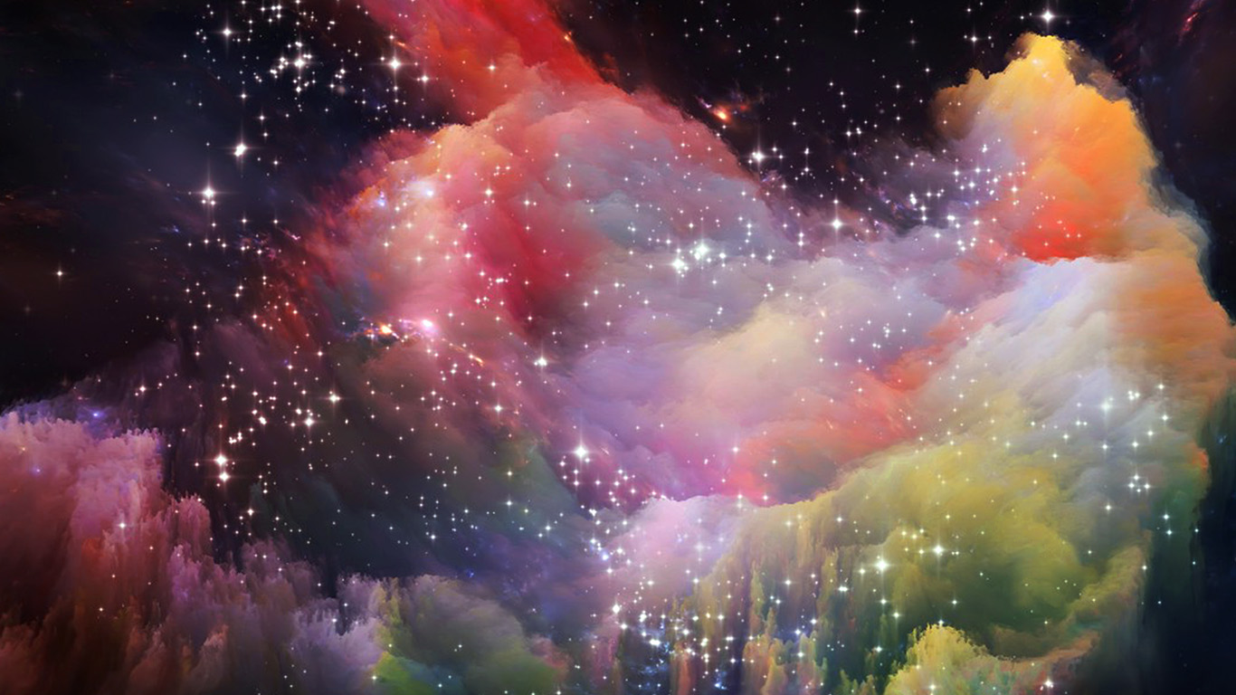 wallpaper for desktop laptop as36 space rainbow colorful star