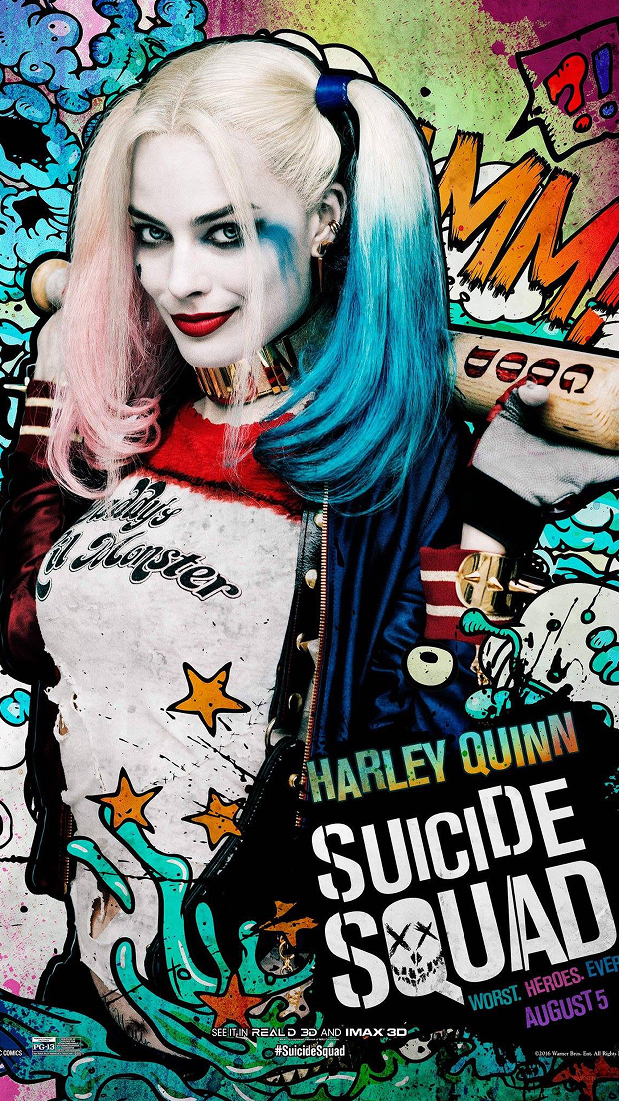 Iphone7papers Com Iphone7 Wallpaper As43 Suicide Squad Film