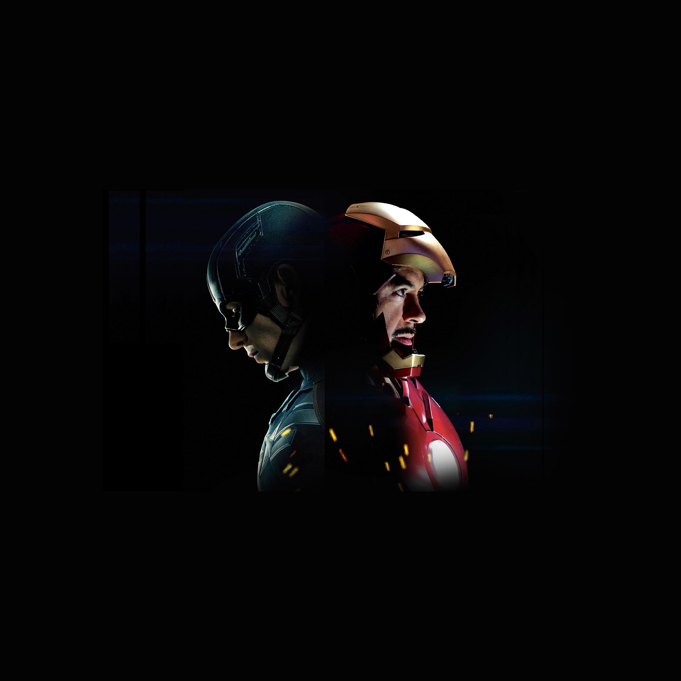 Wallpaper Iphone Superhero: As71-captain-america-civilwar-ironman-hero-art