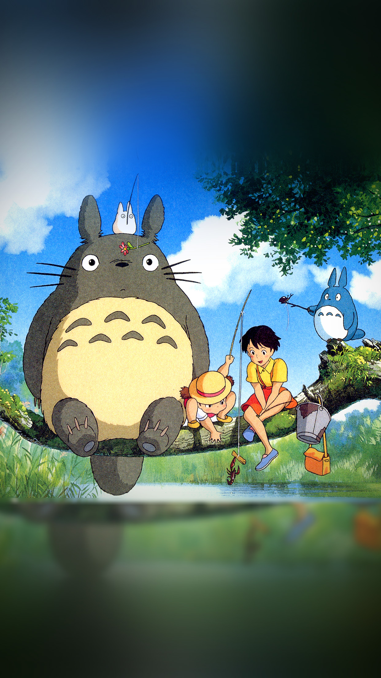 Iphone wallpaper as73 my neighbor totoro - Classic art wallpaper iphone 5 ...