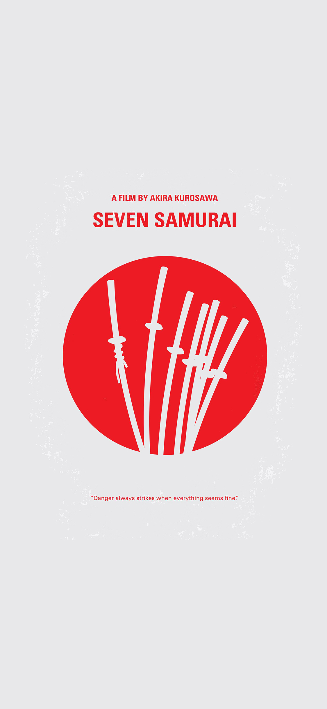 Papers Co Iphone Wallpaper As75 Seven Samurai Film Minimal Art Illustration