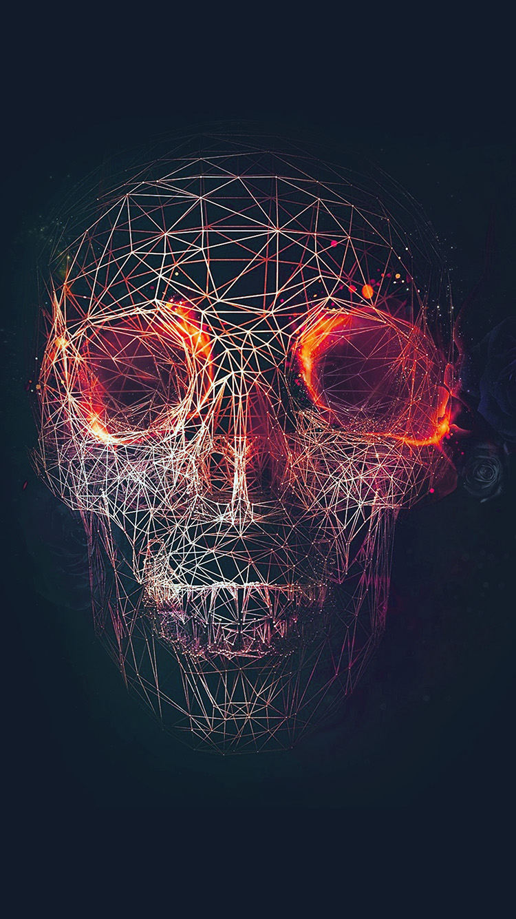 iPhone7papers.com-Apple-iPhone7-iphone7plus-wallpaper-at03-digital-skull-dark-abstract-art-illustration-red