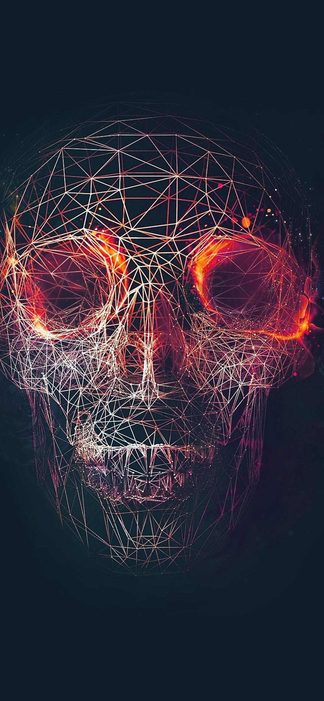 Iphonepapers Com Iphone 8 Wallpaper At03 Digital Skull