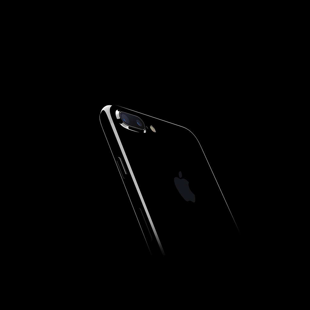 Papers Co Android Wallpaper At18 Iphone7 Jetblack Dark Apple