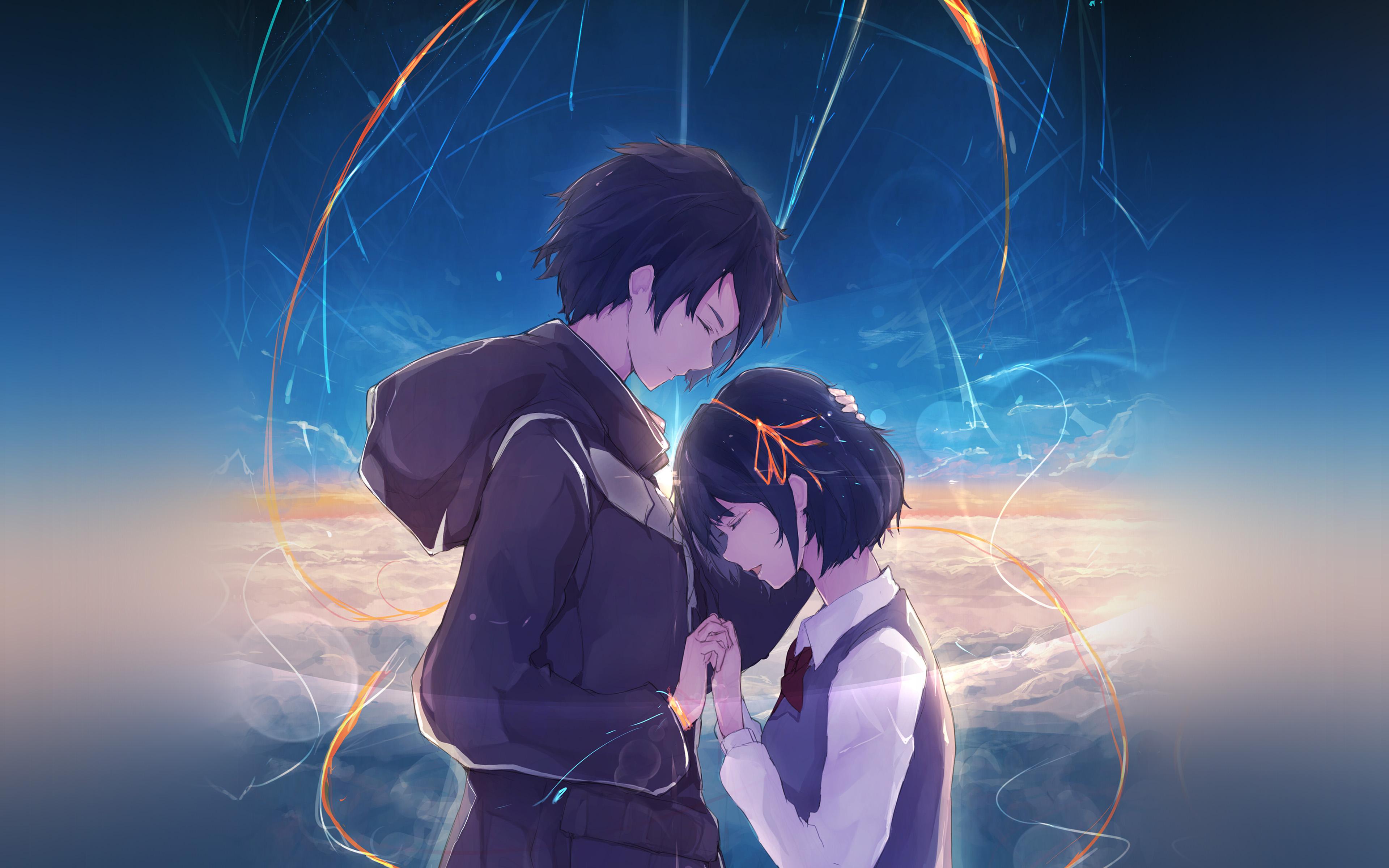 At27 Anime Kiminonawa Drawing Art Illustration Wallpaper