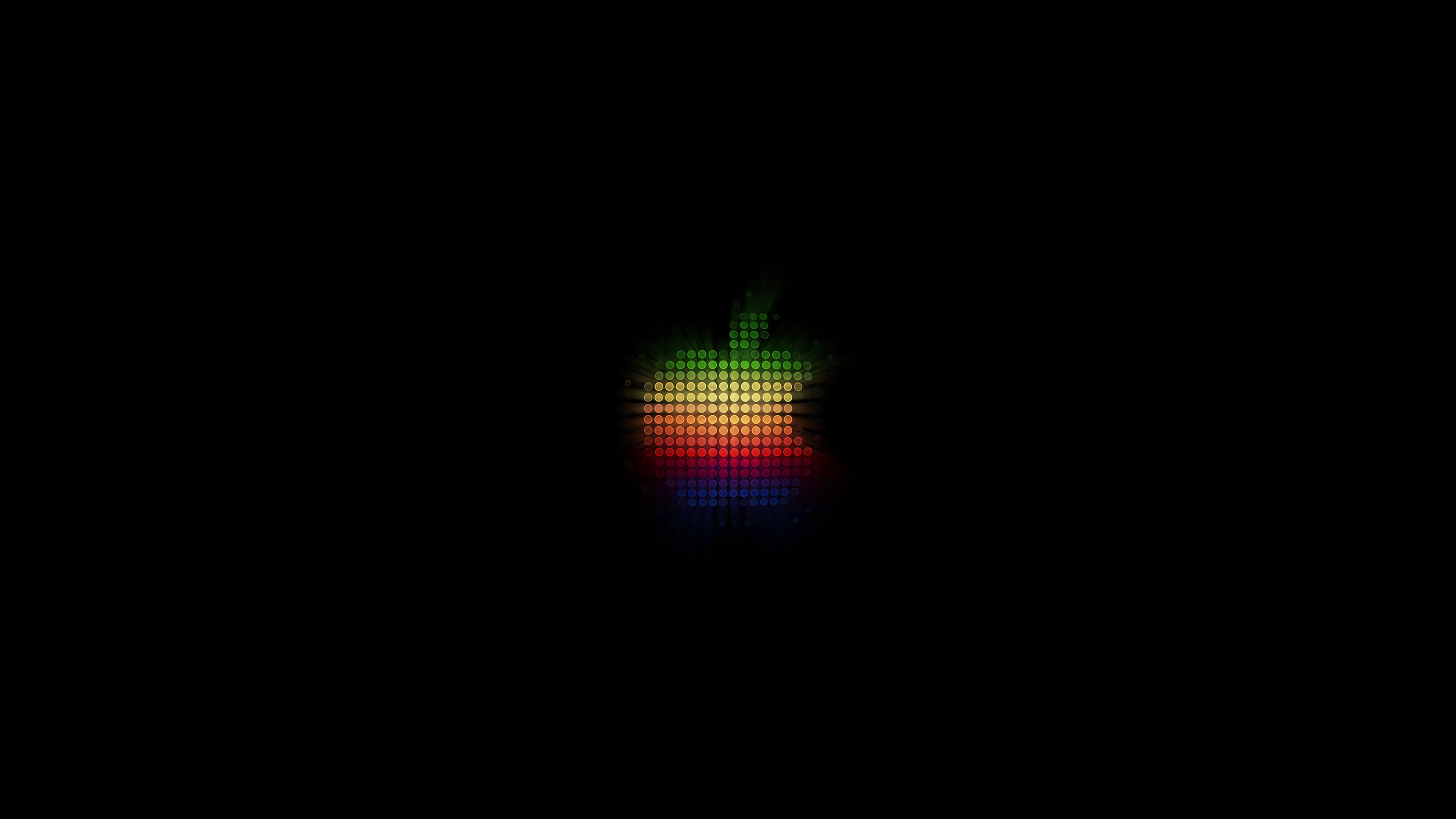 At40 Logo Apple Rainbow Pixel Art Illustration Wallpaper