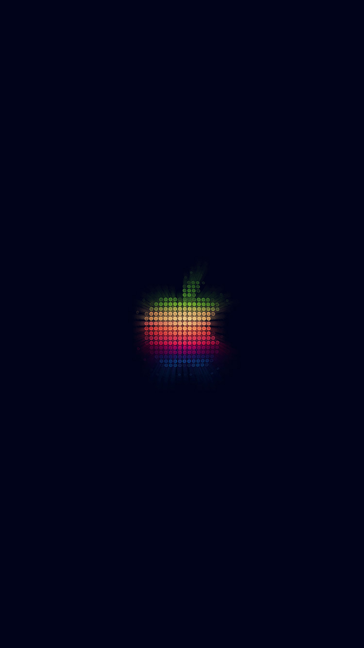 iPhone7papers.com-Apple-iPhone7-iphone7plus-wallpaper-at41-logo-apple-rainbow-pixel-art-illustration-blue