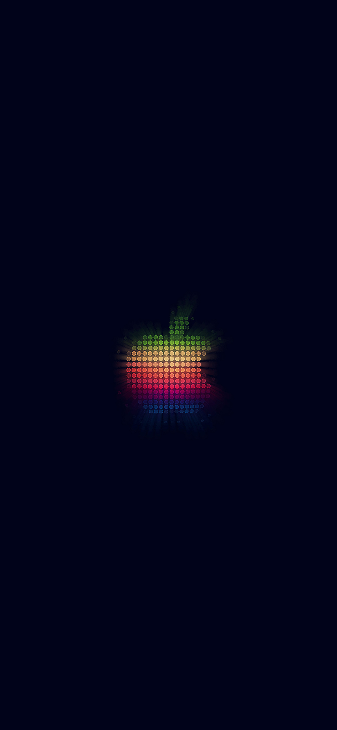 iPhoneXpapers.com-Apple-iPhone-wallpaper-at41-logo-apple-rainbow-pixel-art-illustration-blue