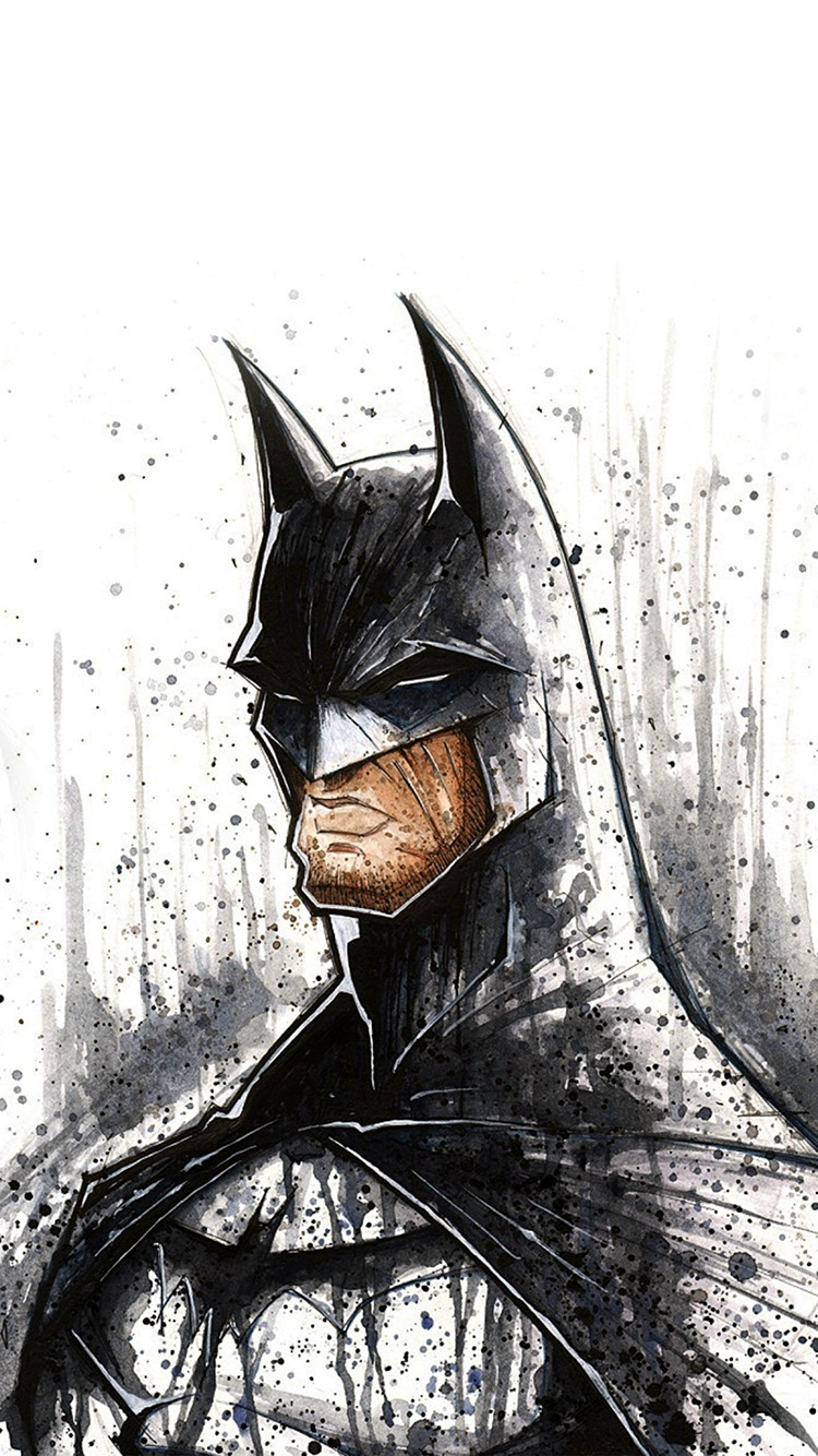 Papers.co-iPhone5-iphone6-plus-wallpaper-at47-batman-face-painting-hero-art-illustration