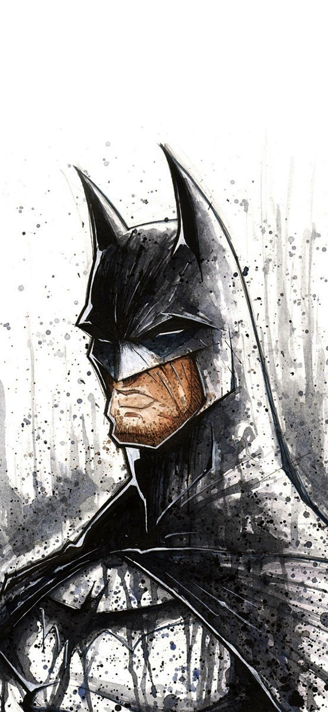 iPhoneXpapers.com-Apple-iPhone-wallpaper-at47-batman-face-painting-hero-art-illustration