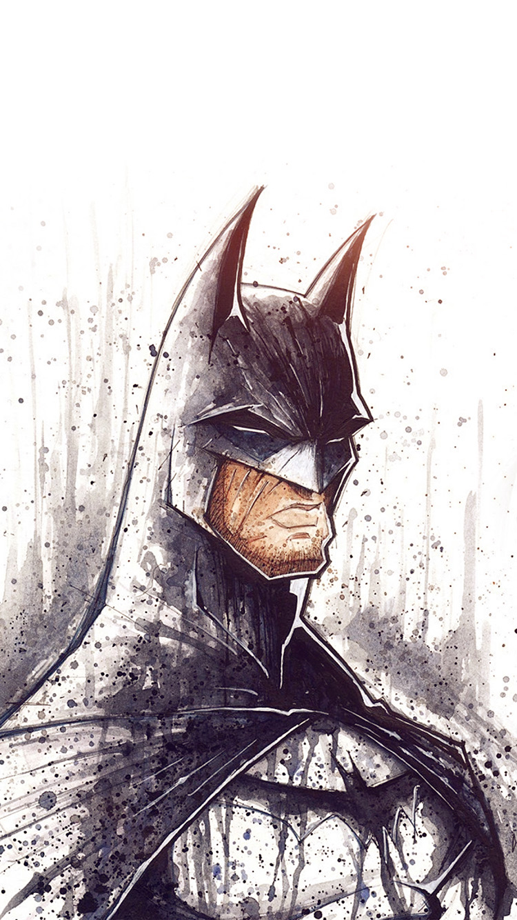 Papers.co-iPhone5-iphone6-plus-wallpaper-at48-batman-face-painting-hero-art-illustration-flare