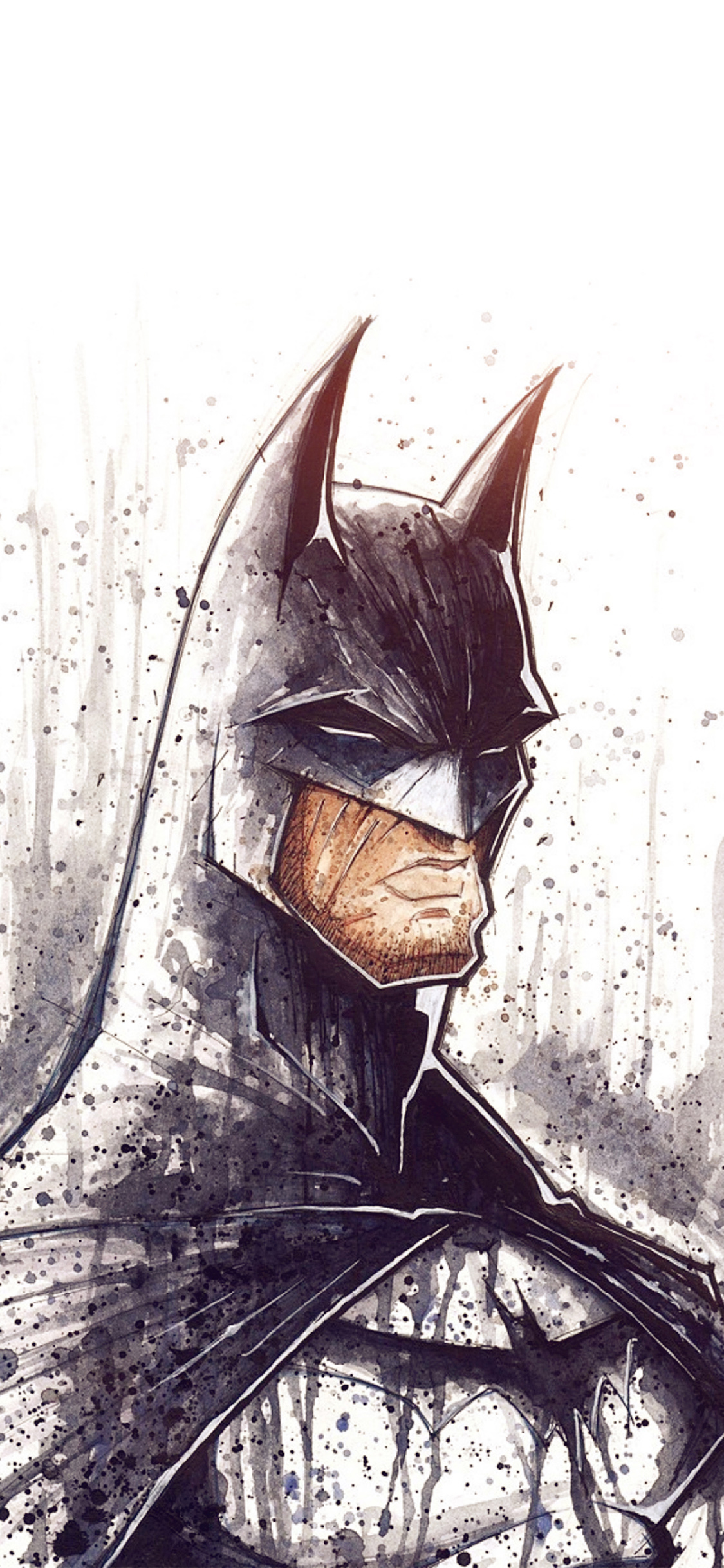 iPhoneXpapers.com-Apple-iPhone-wallpaper-at48-batman-face-painting-hero-art-illustration-flare