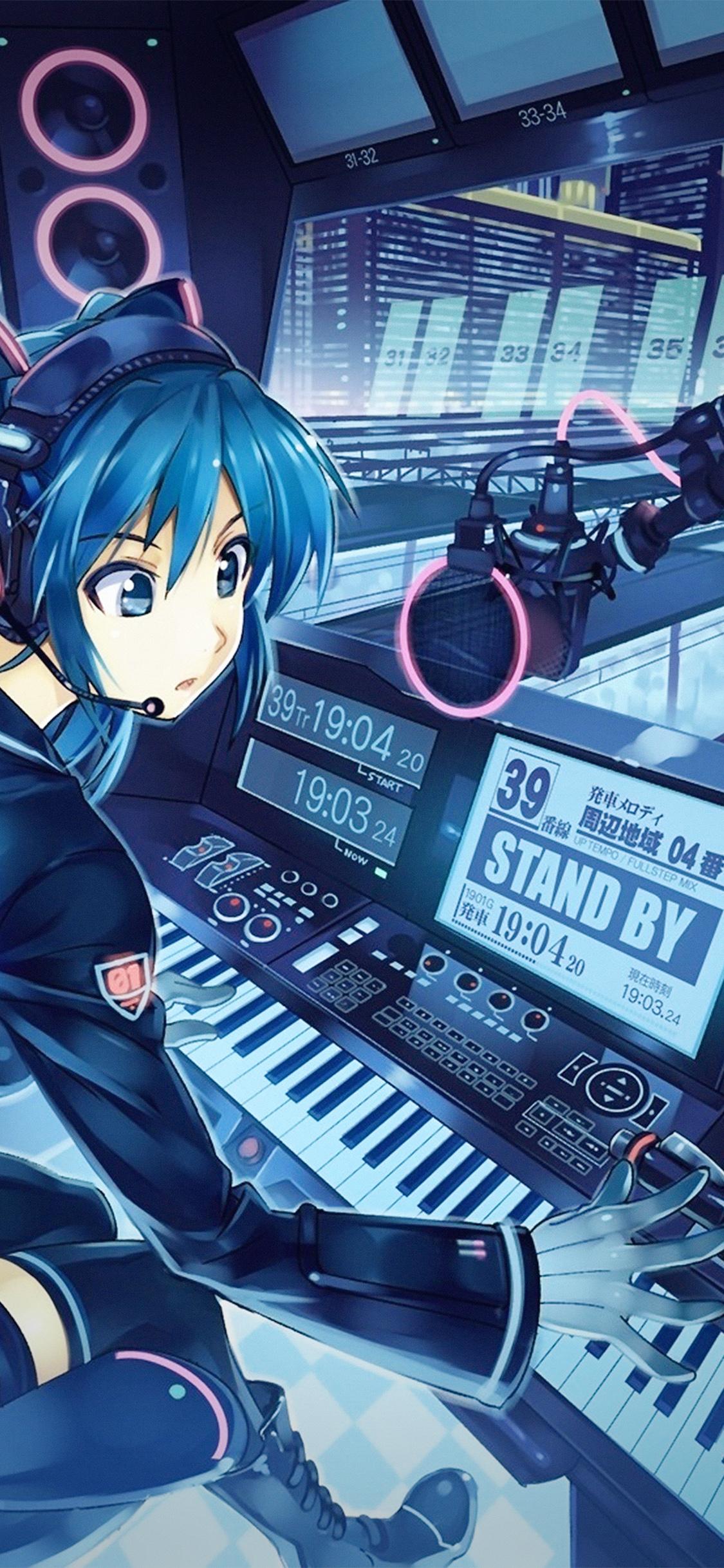 iPhoneXpapers.com-Apple-iPhone-wallpaper-at52-hatsune-miku-anime-girl-train-blue-art-illustration-cute