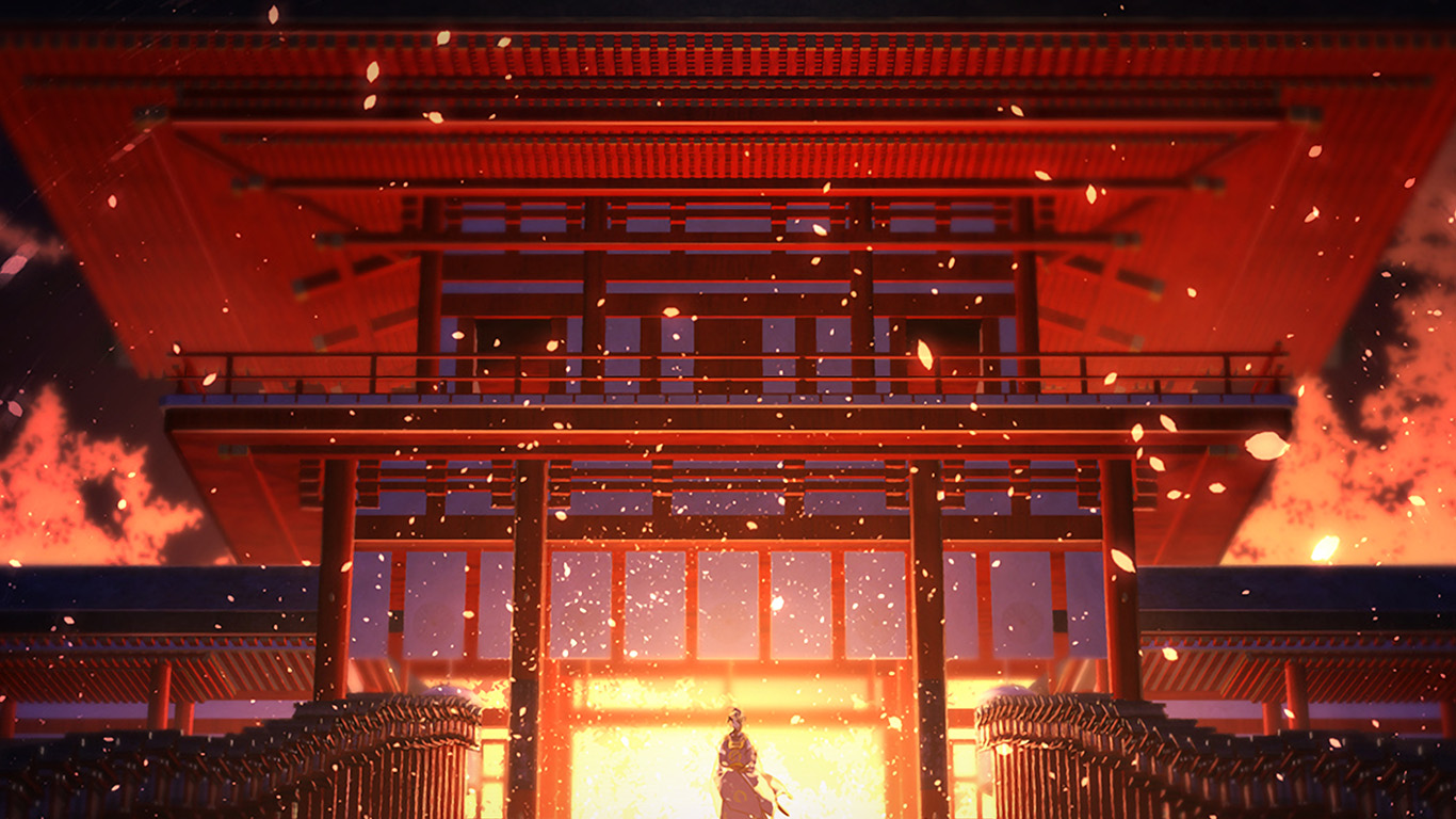 desktop-wallpaper-laptop-mac-macbook-air-at76-anime-painting-temple-red-art-illustration-wallpaper
