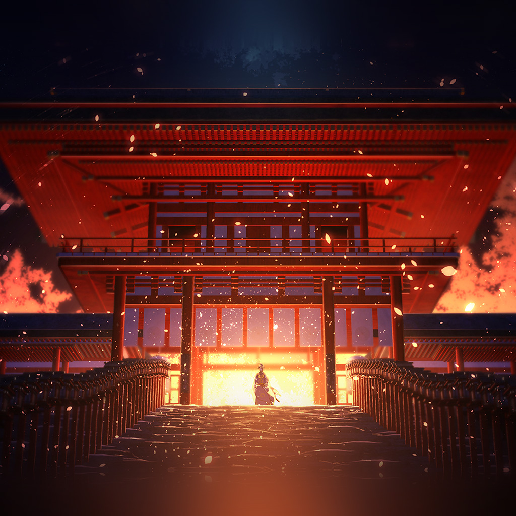 wallpaper-at76-anime-painting-temple-red-art-illustration-wallpaper