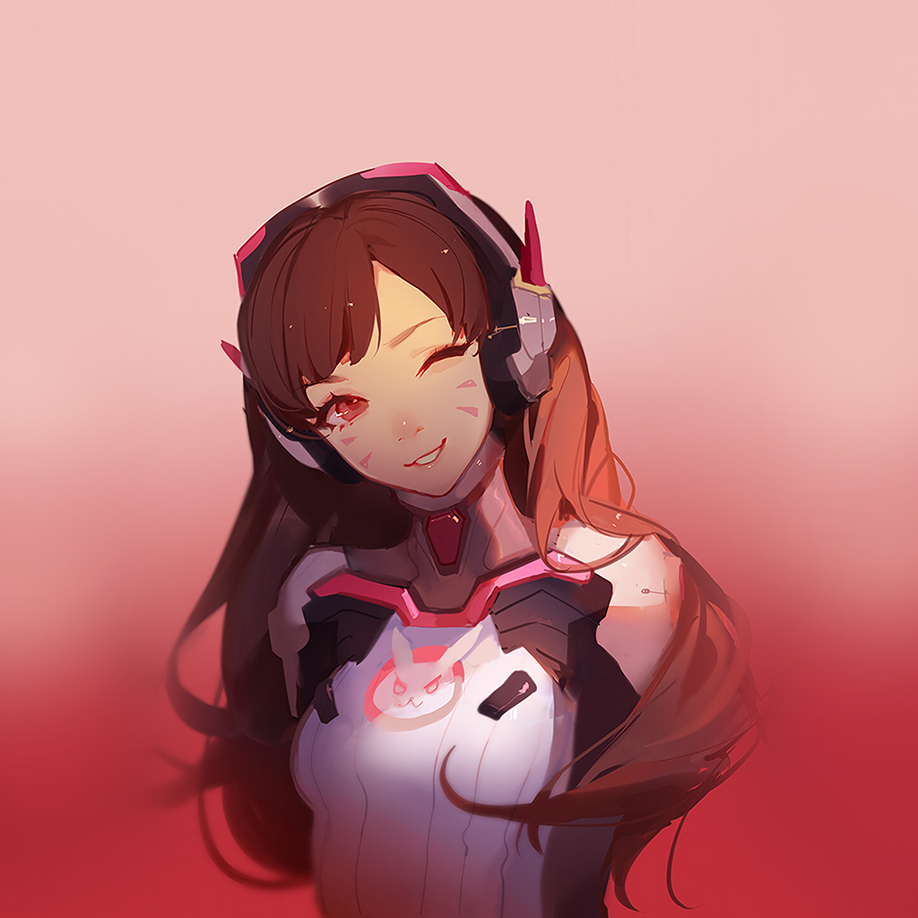 android-wallpaper-at81-dva-overwatch-cute-anime-game-art-illustration-red-wallpaper