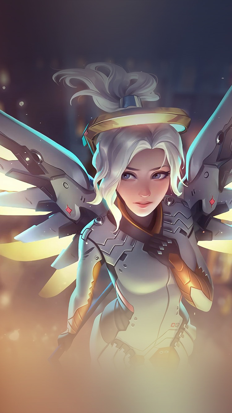 iPhone6papers.co-Apple-iPhone-6-iphone6-plus-wallpaper-at82-mercy-overwatch-angel-healer-game-art-illustration