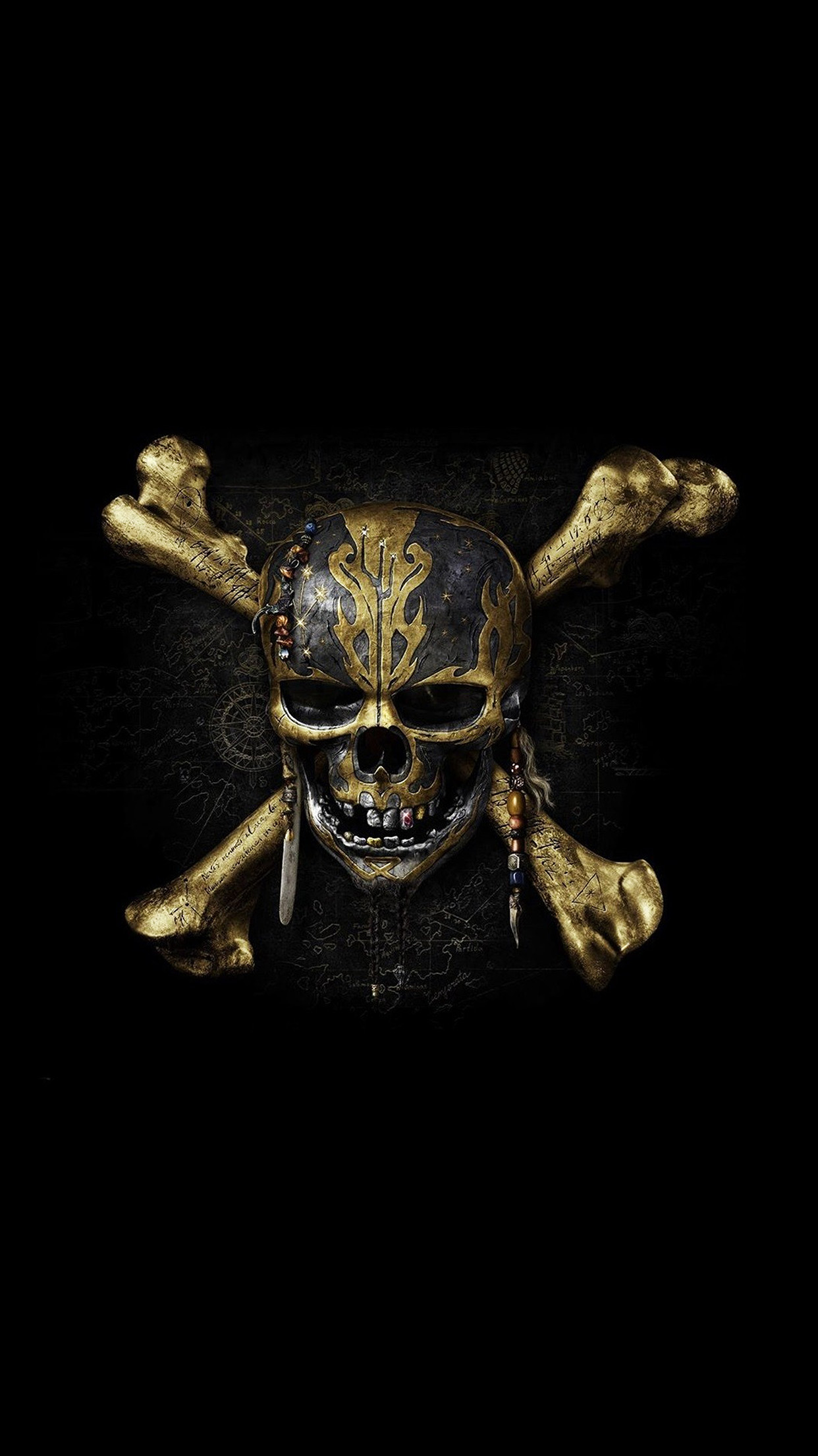 iphone7papers | iphone7 wallpaper | at83-pirates-dark-skull-art