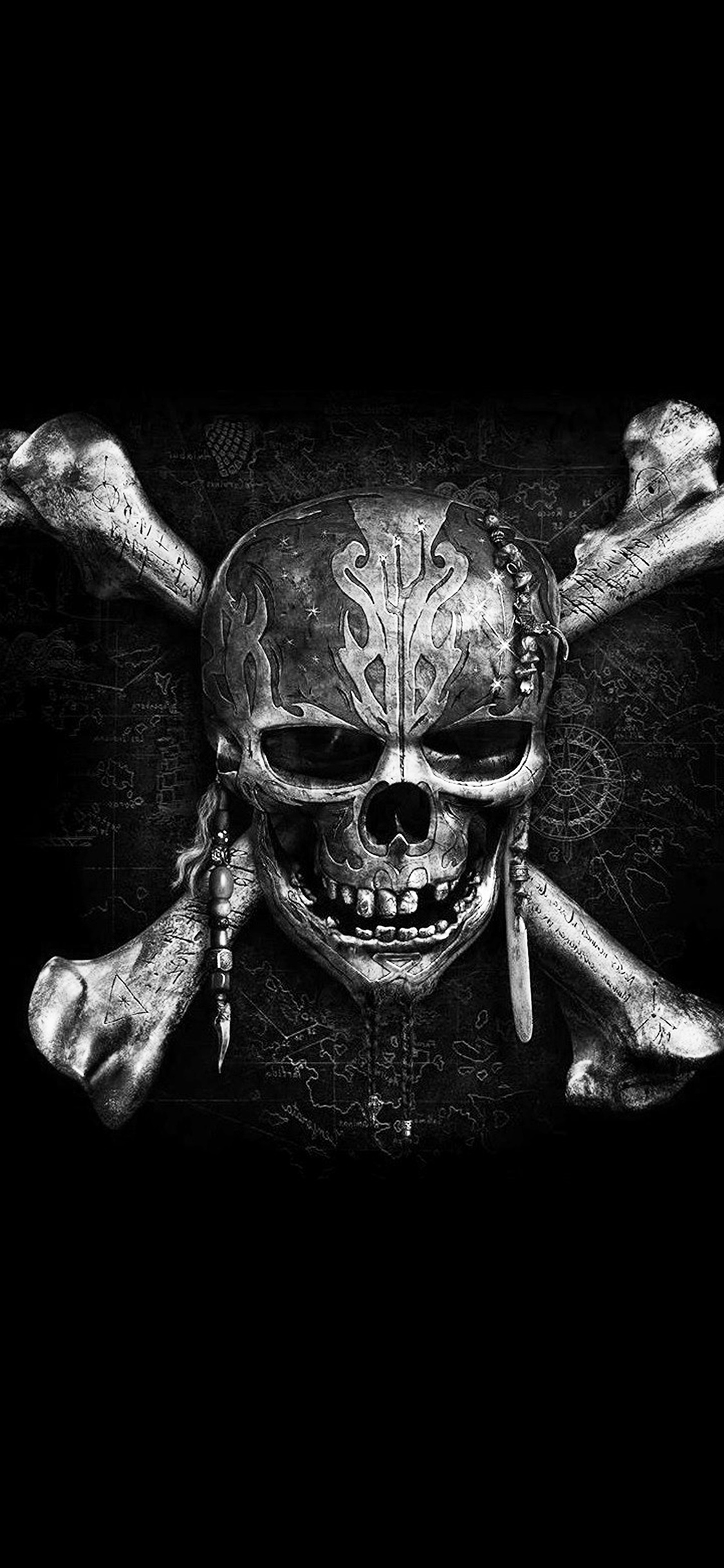 iphonepapers | iphone 8 wallpaper | at84-pirates-dark-skull-art