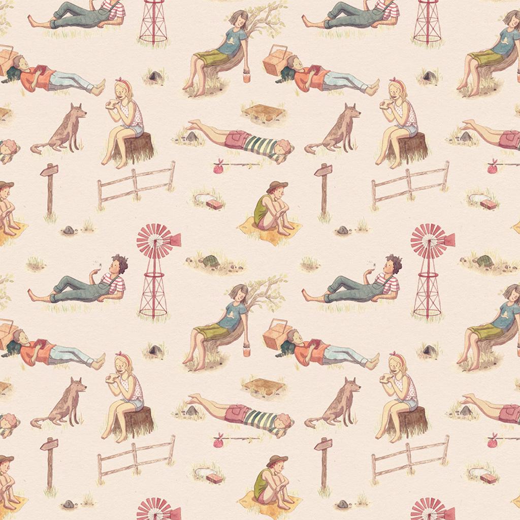 wallpaper-au04-molly-walsh-vacation-life-humor-illustration-art-red-wallpaper