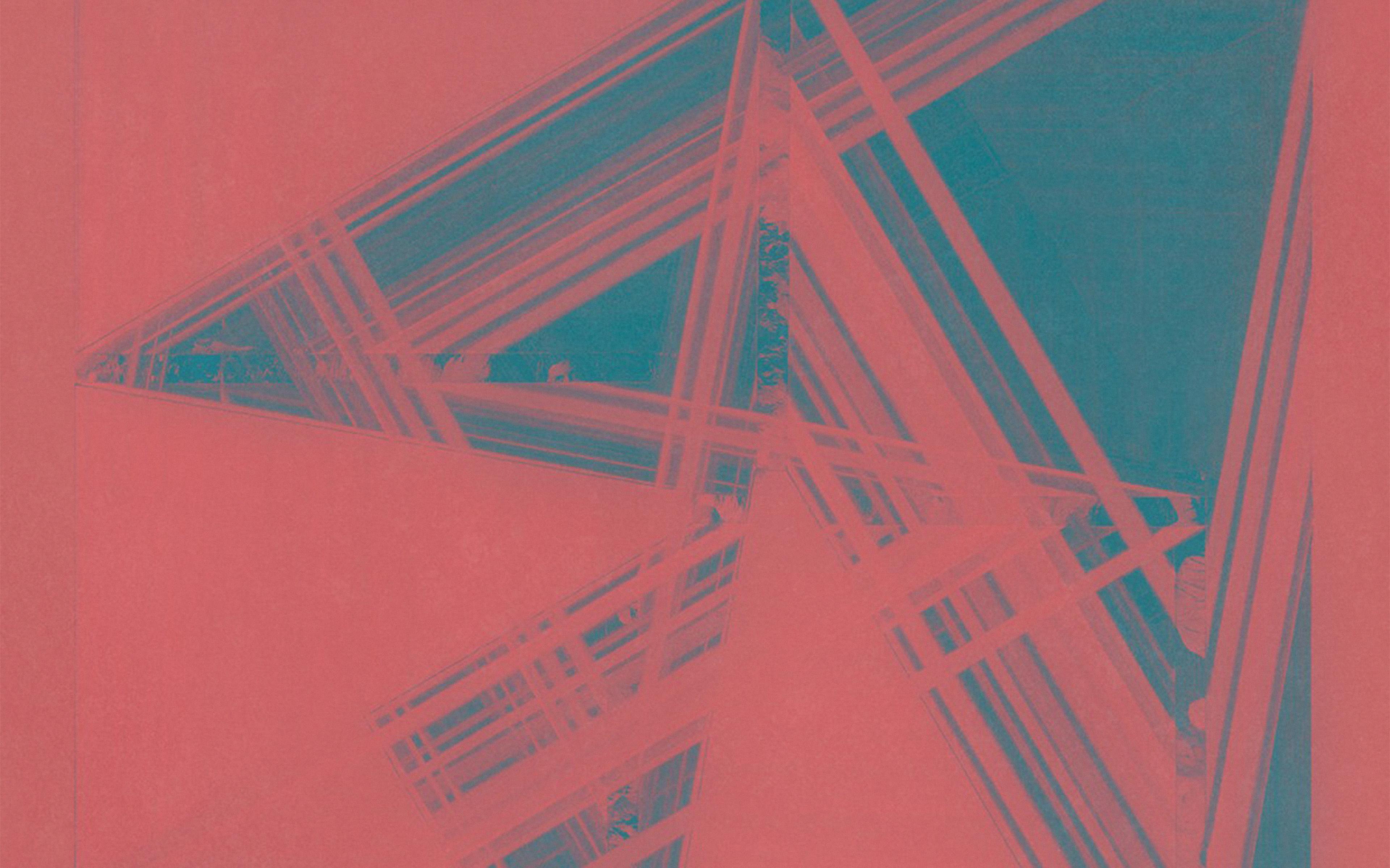 Au05 Music Cover Art Blue Pink Death Cab For Cutie Illustration
