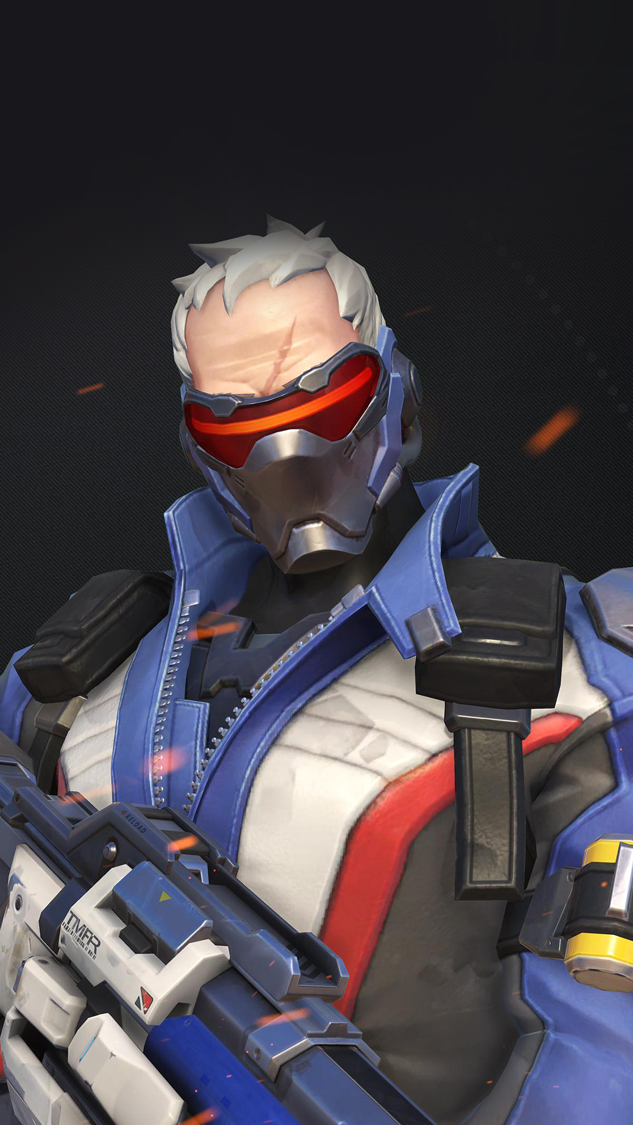 Papers Co Iphone Wallpaper Au09 Overwatch Soldier 76