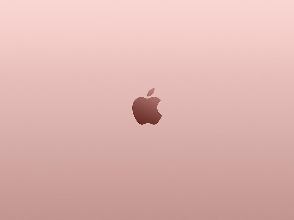 wallpaper for desktop, laptop   au11-apple-pink-rose-gold ...