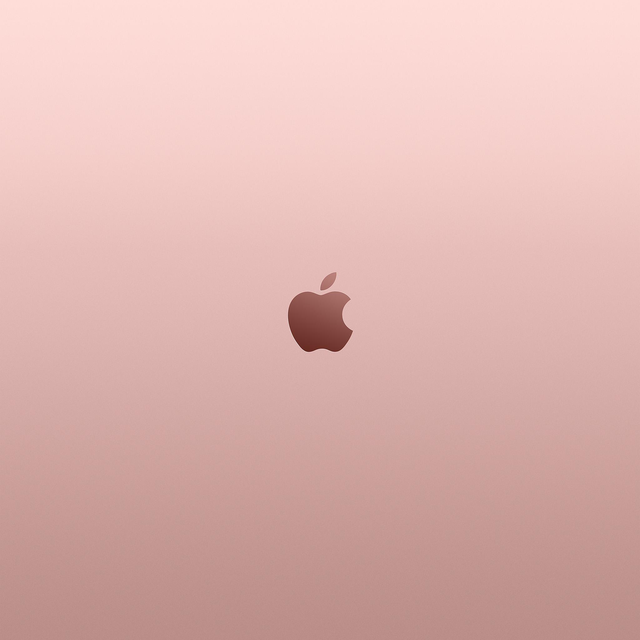 Au11 Apple Pink Rose Gold Minimal Illustration Art Wallpaper