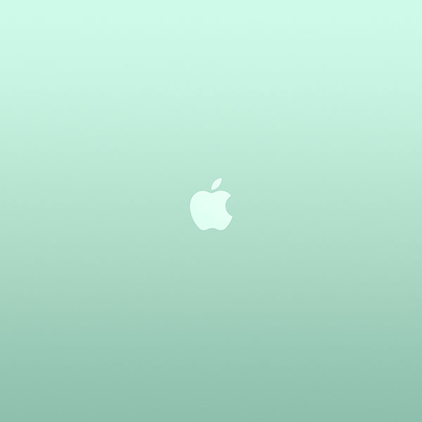 Au17 Logo Apple Green White Minimal Illustration Art Wallpaper