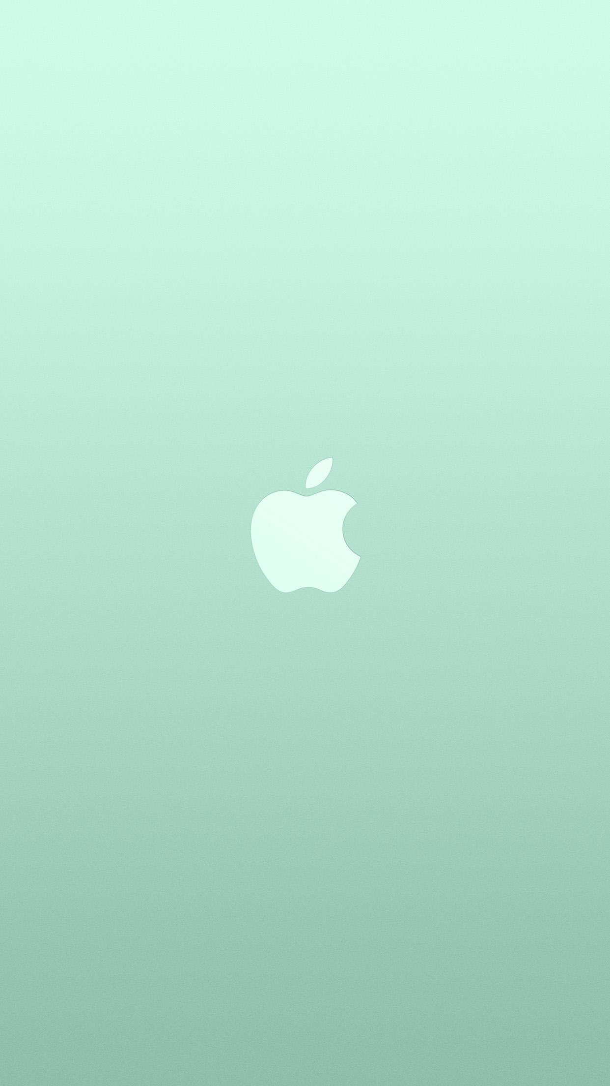 Au17 Logo Apple Green White Minimal Illustration Art Wallpaper