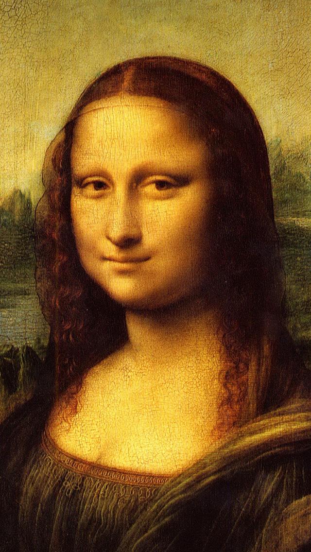 freeios8.com-iphone-4-5-6-plus-ipad-ios8-au20-mona-lisa-classic-paint-illustration-art