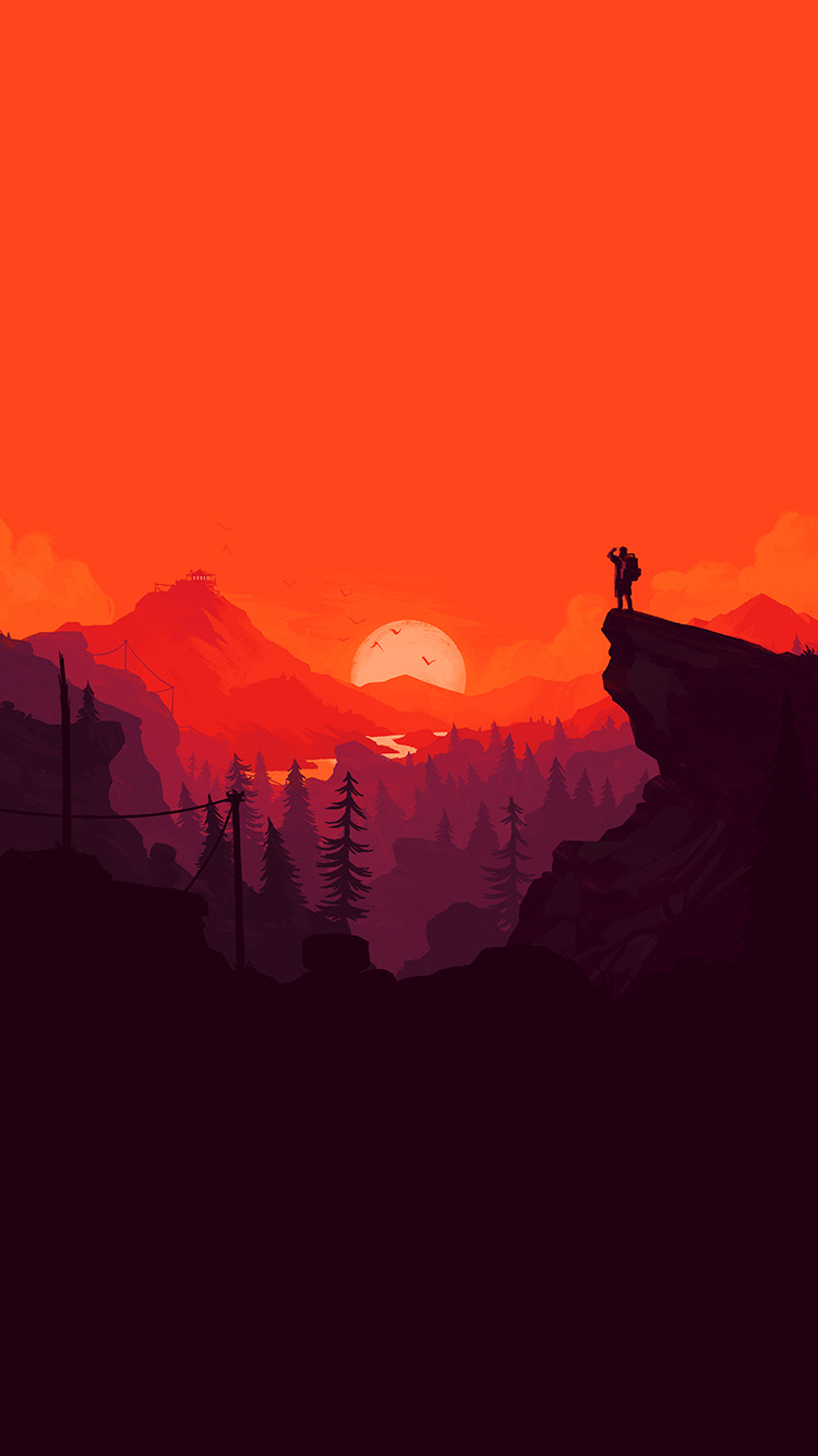 Papers.co-iPhone5-iphone6-plus-wallpaper-au35-nature-sunset-simple-minimal-illustration-art-red