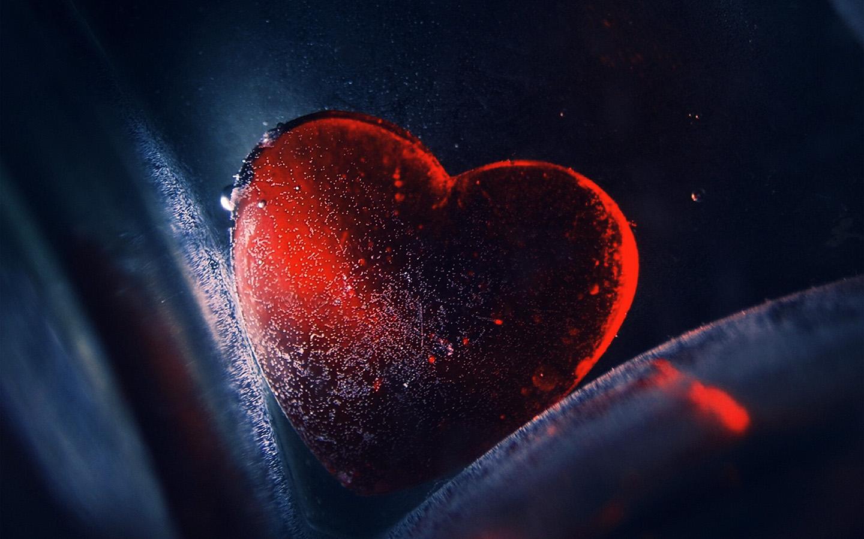 Au42 Heart Red Love Illustration Art Blue Wallpaper
