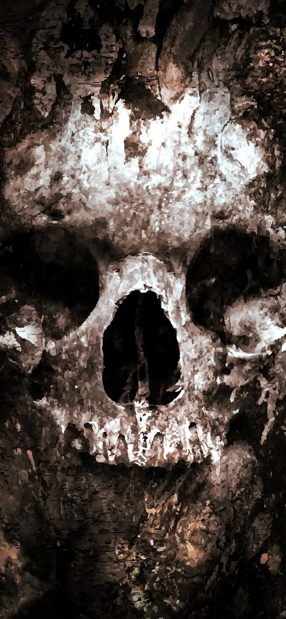 iPhoneXpapers.com-Apple-iPhone-wallpaper-au43-skull-face-ark-paint-illustration-art