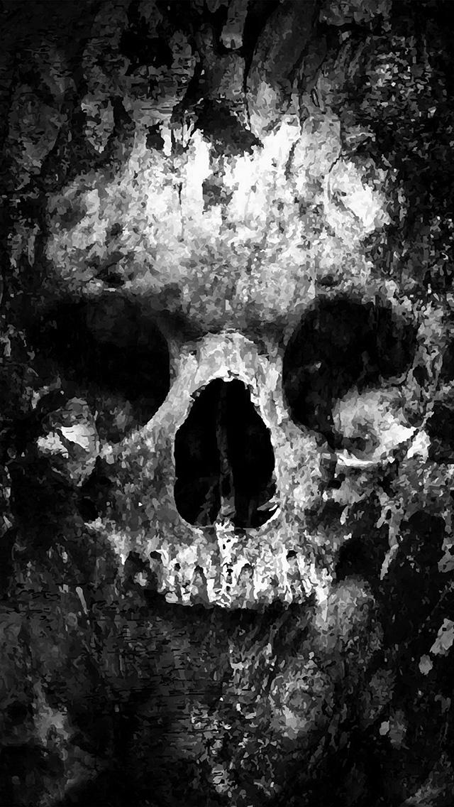 freeios8.com-iphone-4-5-6-plus-ipad-ios8-au44-skull-face-ark-paint-illustration-art-bw-dark