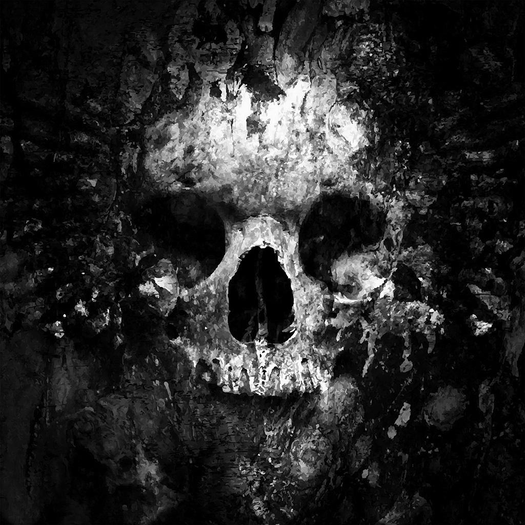 wallpaper-au44-skull-face-ark-paint-illustration-art-bw-dark-wallpaper