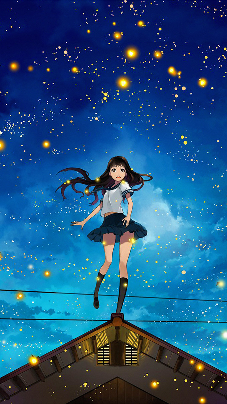 iPhone6papers.co-Apple-iPhone-6-iphone6-plus-wallpaper-au46-girl-anime-star-space-night-illustration-art