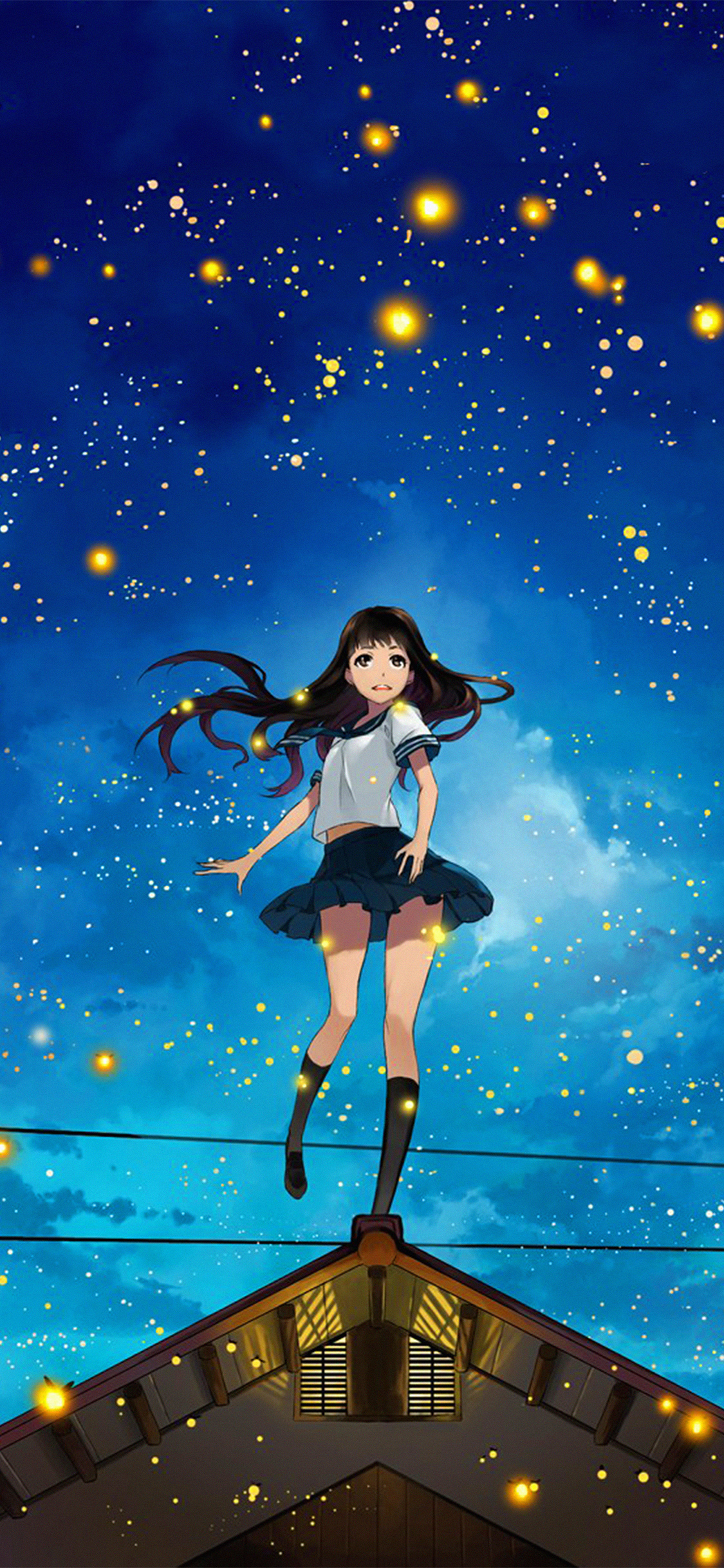 Iphonexpapers Com Iphone X Wallpaper Au46 Girl Anime Star Space