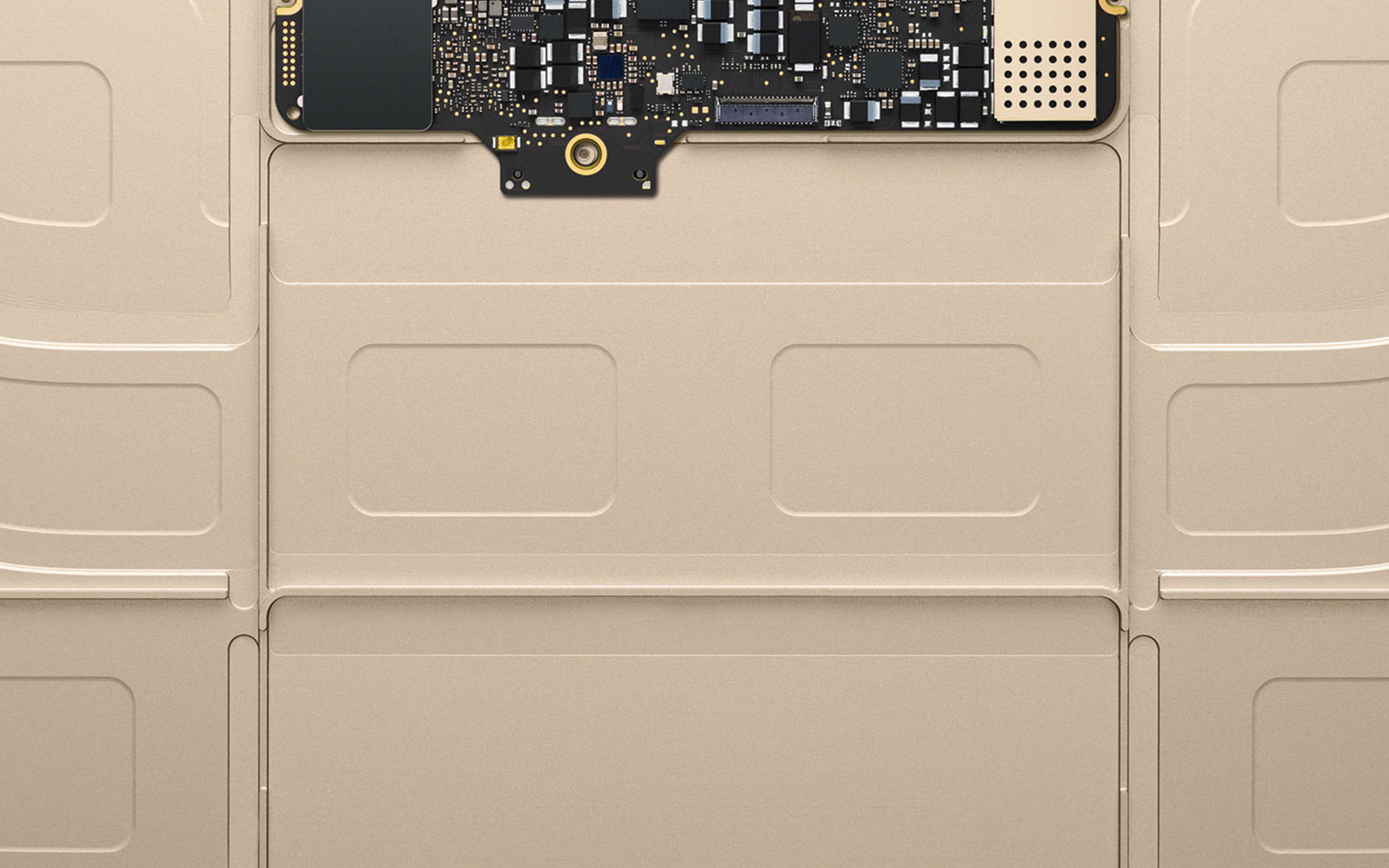 Au52 Inside Macbook Gold Apple Illustration Art Wallpaper