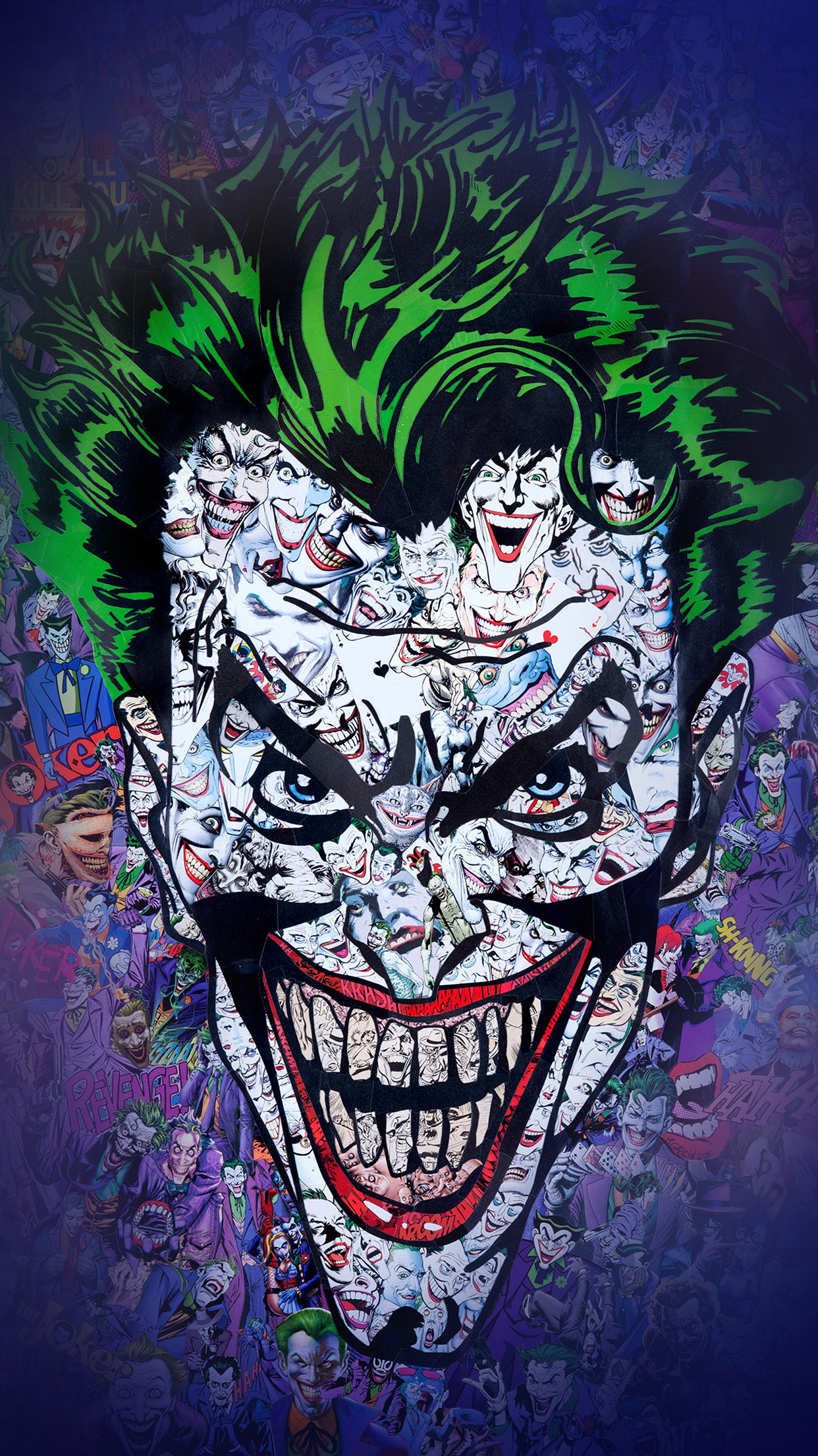Iphone7papers Com Iphone7 Wallpaper Au55 Joker Art Face