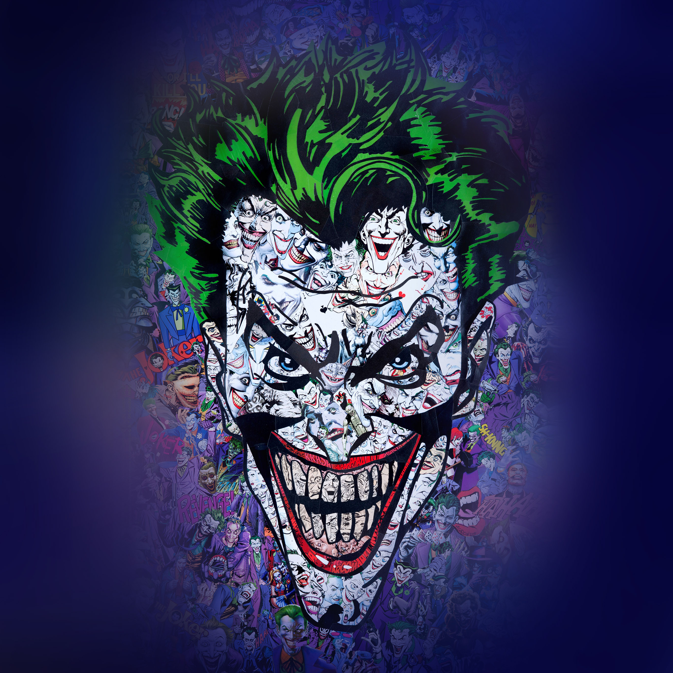 Au55 Joker Art Face Illustration Art Wallpaper