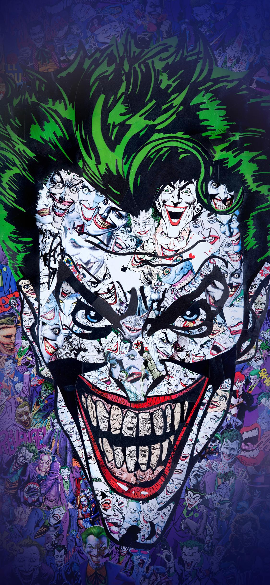 Au55 joker art face illustration art