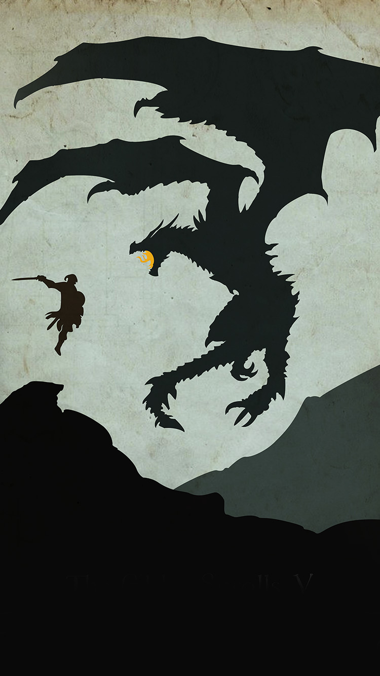 iPhone6papers.co-Apple-iPhone-6-iphone6-plus-wallpaper-au57-skyrim-dragon-illustration-art