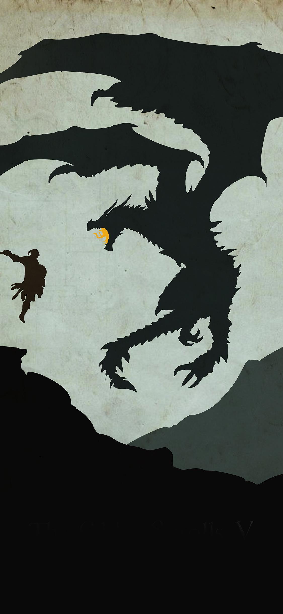 iPhoneXpapers.com-Apple-iPhone-wallpaper-au57-skyrim-dragon-illustration-art