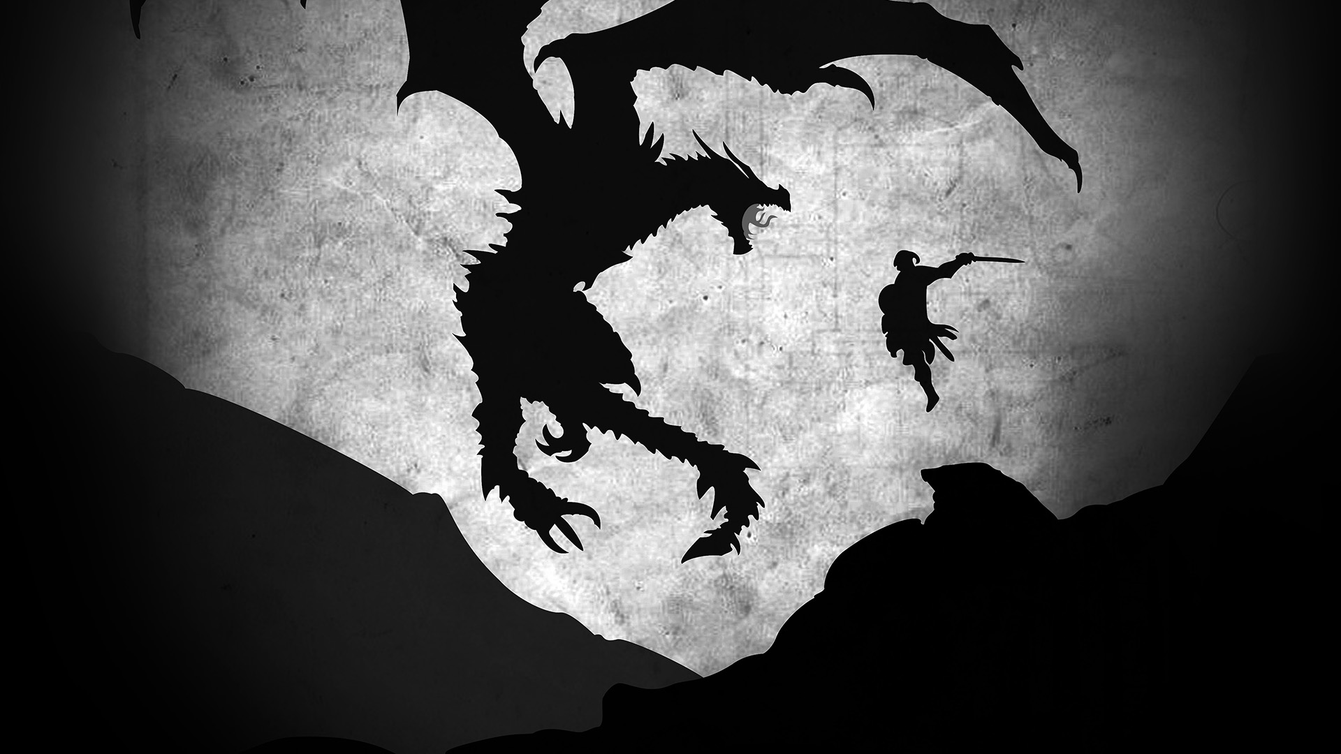 au58-skyrim-dragon-illustration-art-bw-wallpaper
