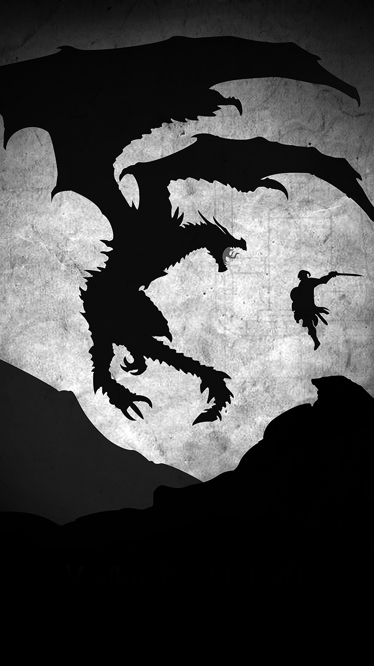 iPhone6papers.co-Apple-iPhone-6-iphone6-plus-wallpaper-au58-skyrim-dragon-illustration-art-bw
