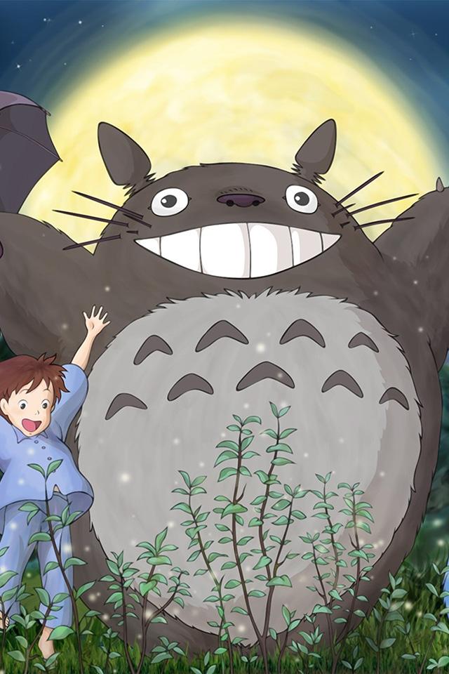 Au59 Totoro Forest Anime Cute Illustration Art Wallpaper