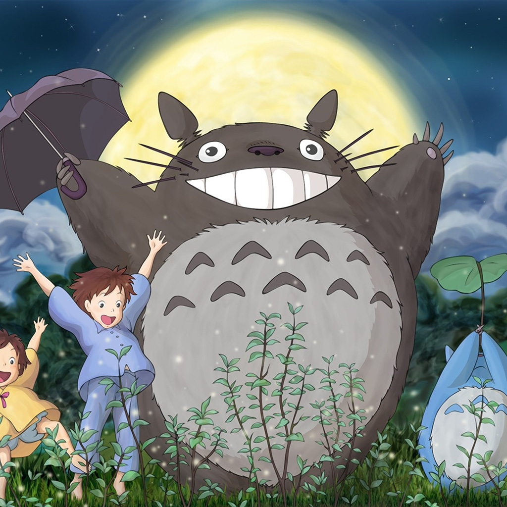 wallpaper-au59-totoro-forest-anime-cute-illustration-art-wallpaper