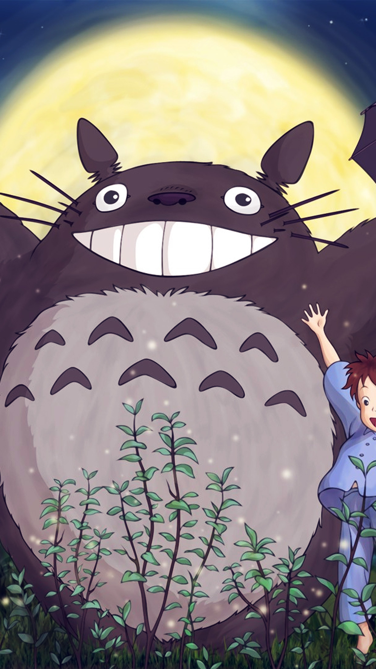 Iphone wallpaper au60 totoro forest anime - Kawaii anime iphone wallpaper ...